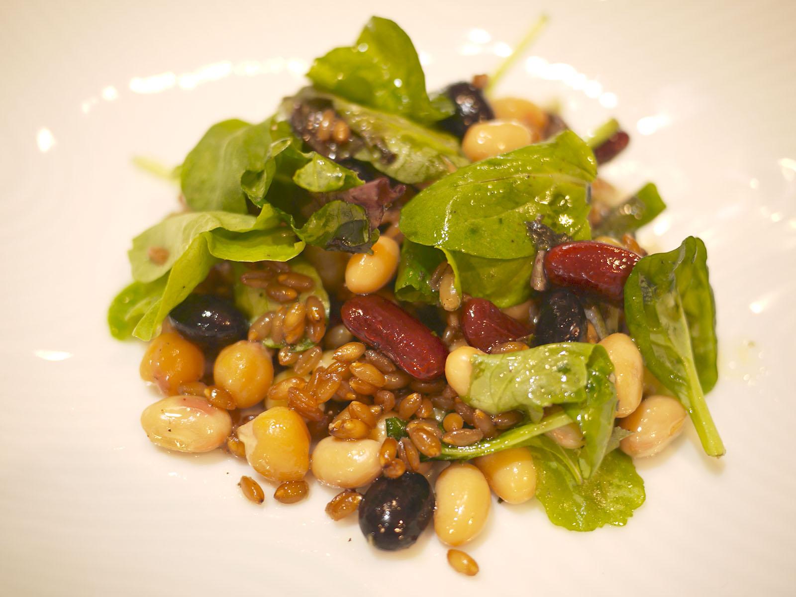 レシピその1 玄麦と豆のサラダ